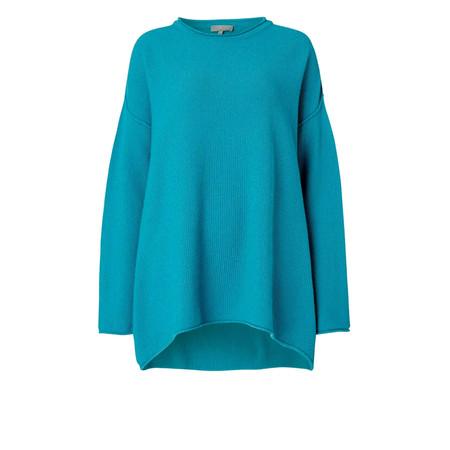 Sahara Honeycomb Knit Jumper - Blue