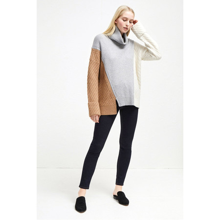 French Connection Viola Knit High Neck Jumper - Blue