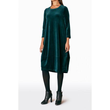 Sahara Velvet Jersey Bubble Dress - Green