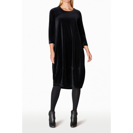Sahara Velvet Jersey Bubble Dress - Black
