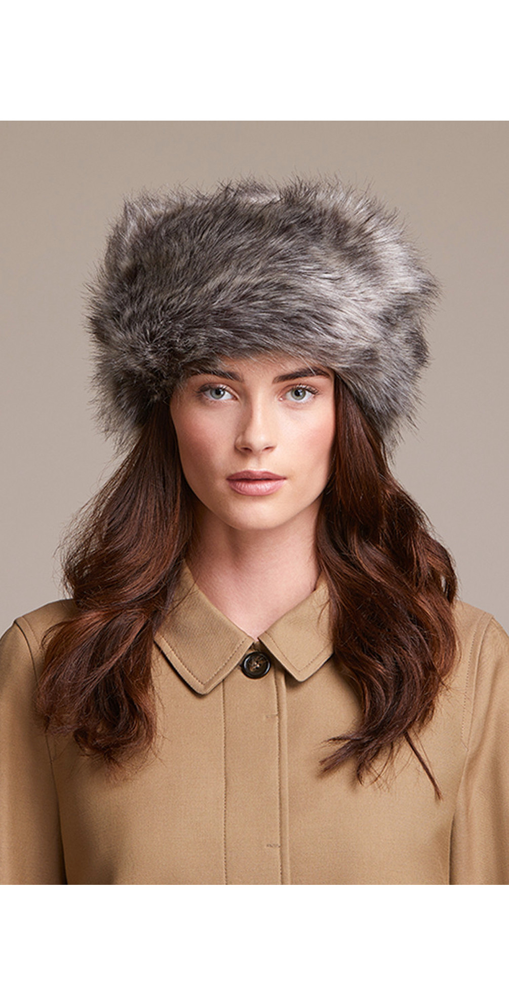 Pillbox Faux Fur Hat main image