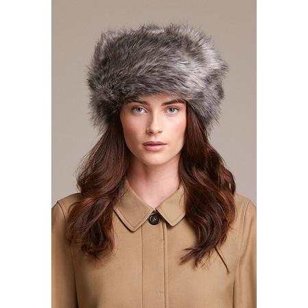 Helen Moore Pillbox Faux Fur Hat - Grey