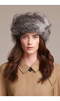 Helen Moore Lady Grey Pillbox Faux Fur Hat
