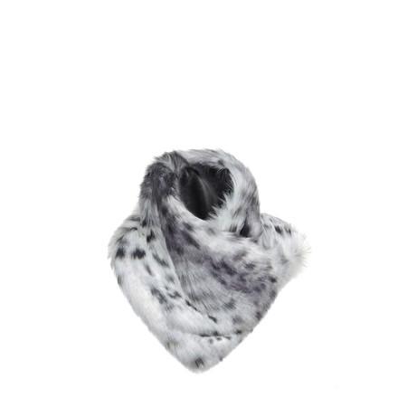 Helen Moore Arctic Leopard Asymmetric Scarf - Grey
