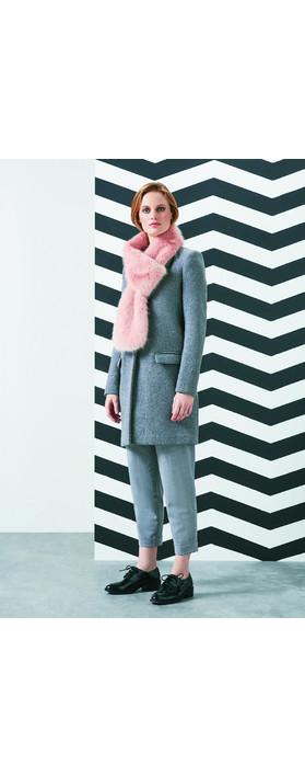 Helen Moore Loop Faux Fur Scarf Dusky Pink