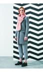 Helen Moore Dusky Pink Loop Faux Fur Scarf