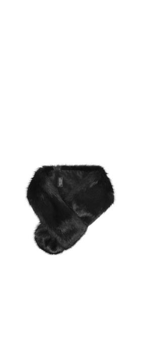 Helen Moore Loop Faux Fur Scarf Jet