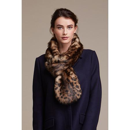Helen Moore Loop Faux Fur Scarf - Brown
