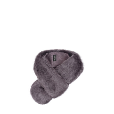 Helen Moore Loop Faux Fur Scarf - Grey