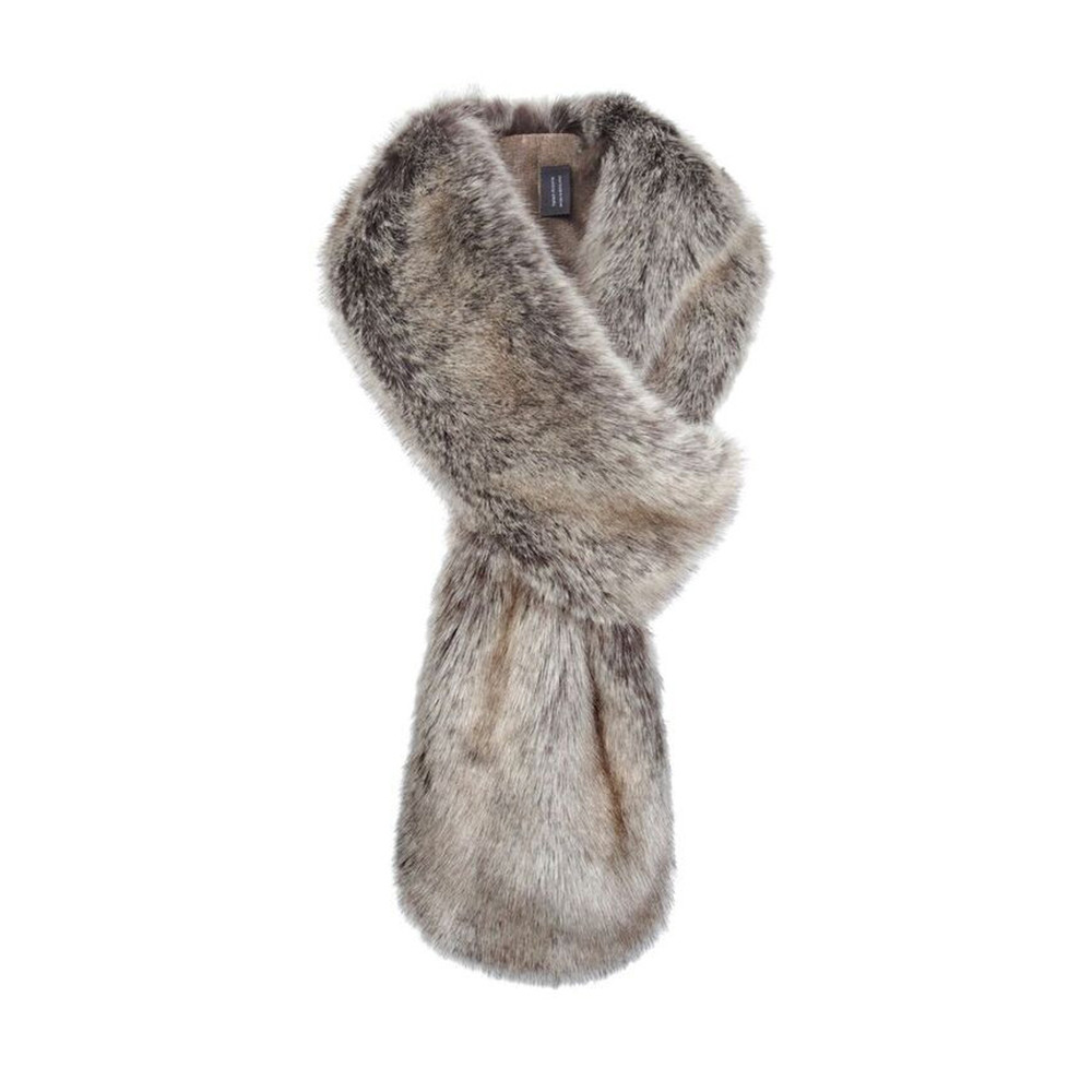 Helen Moore Loop Faux Fur Scarf Truffle