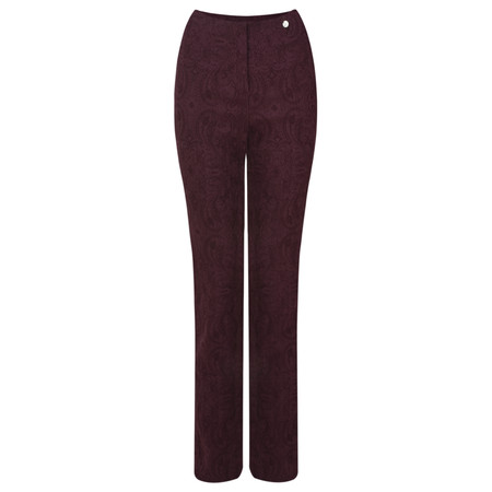 Robell Trousers Rose Jacquard Full Length Trouser - Purple