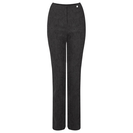 Robell Trousers Rose Jacquard Full Length Trouser - Grey