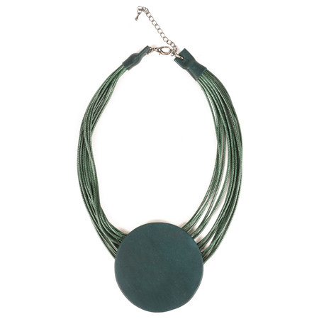 NOUV-ELLE Toremi Circle Pendant Necklace - Green