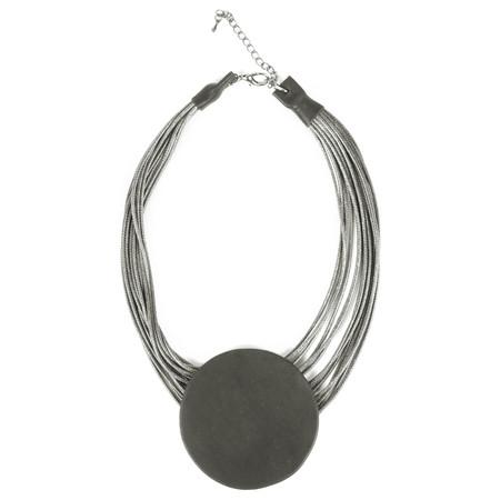 NOUV-ELLE Toremi Circle Pendant Necklace - Blue