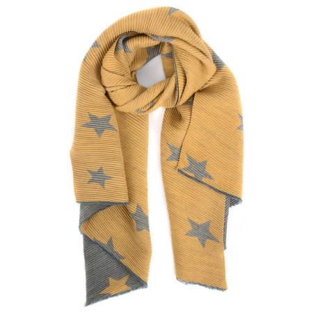 Gemini Label Accessories Revo Stars Reversible Scarf - Yellow