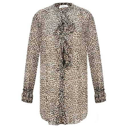Luella Eliza Ruffle Leopard Print Blouse - Beige