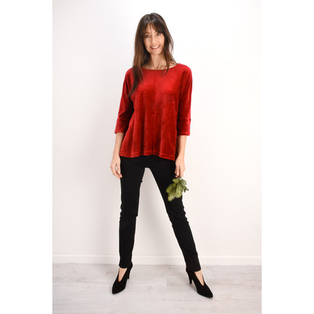 Mama B Padova Velvet Top - Red