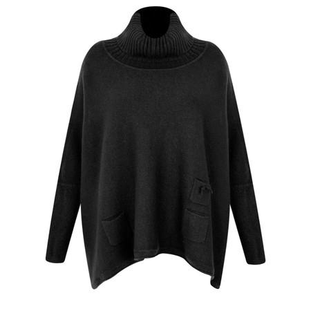 Fenella  Linzy Roll Neck Oversized Knit Jumper - Black