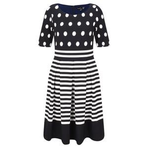 Smashed Lemon Spot and Stripe Dress