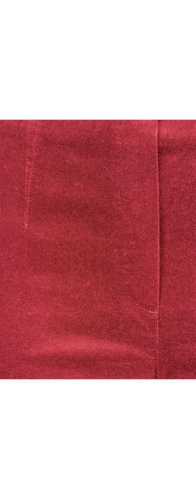 Robell  Marie Stretch Cotton Velvet Slim Full Length Trouser 46 Red
