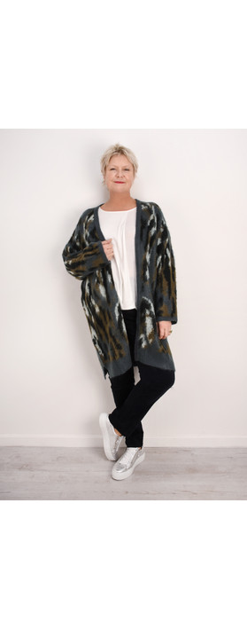 Sandwich Clothing Open Mohair Chunky Knit Cardigan Graphite