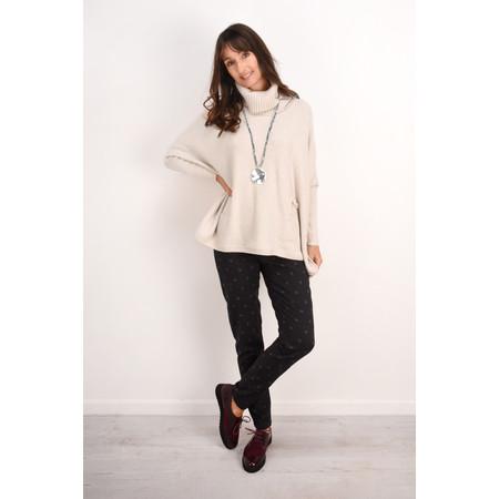 Fenella  Linzy Roll Neck Oversized Knit Jumper - Off-White