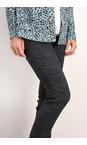 Robell Trousers Dark Grey Rose Jacquard Full Length Trouser