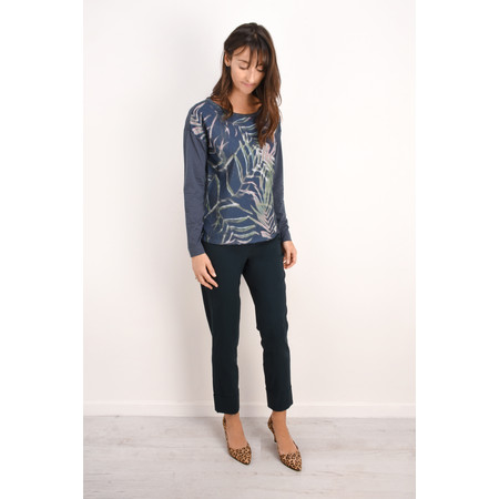 Sandwich Clothing Distorted Leaf Print Top - Grey