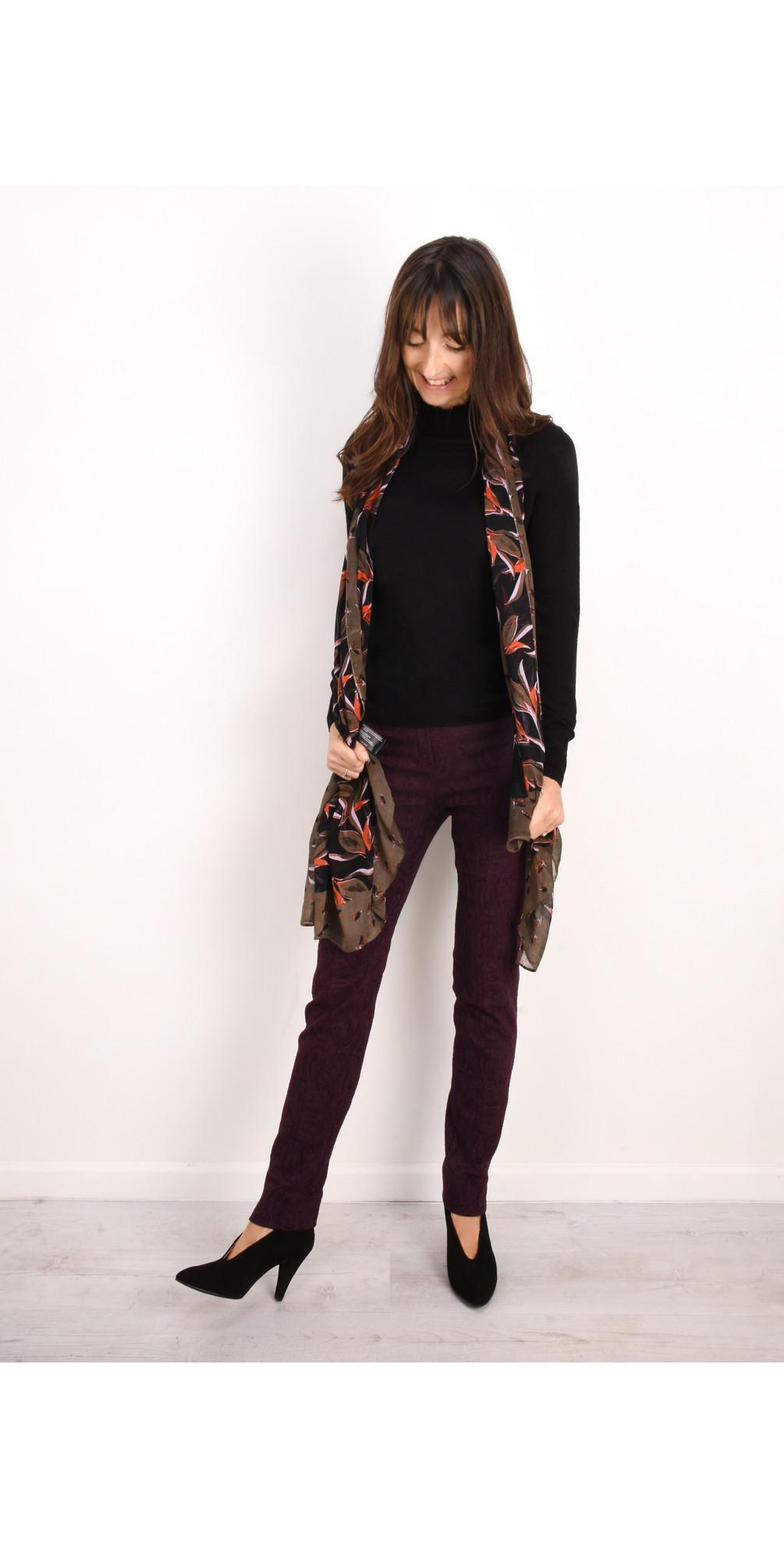 Rose Jacquard Full Length Trouser main image