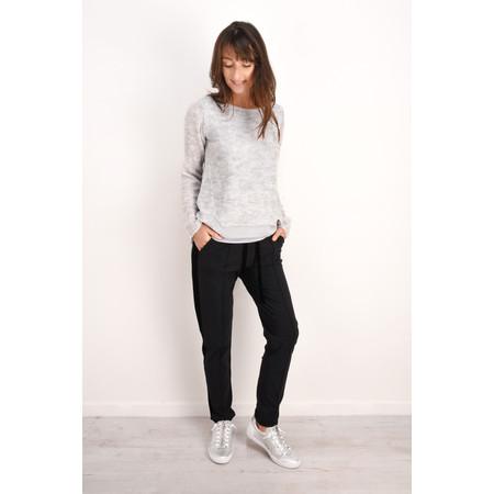 Sandwich Clothing Winter Wool Layered Knit Top - Grey