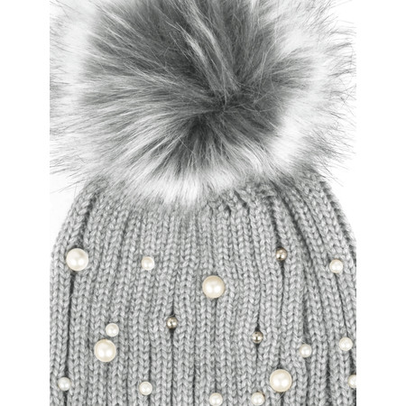 RINO AND PELLE Bobble Hats with Pearls - Blue