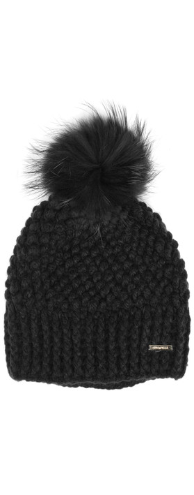 RINO AND PELLE Kevina Bobble Hat Black