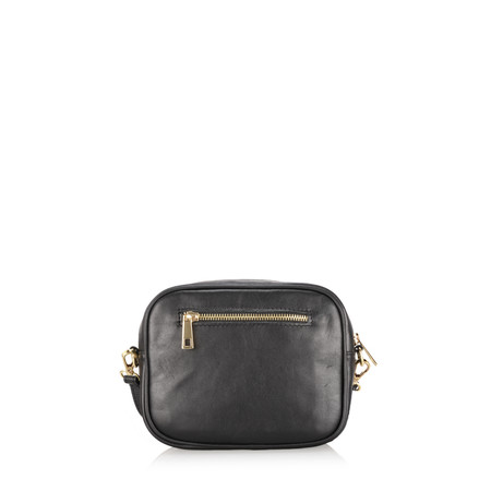 Gemini Label  Pinkie Leather Animal Print Bag - Brown