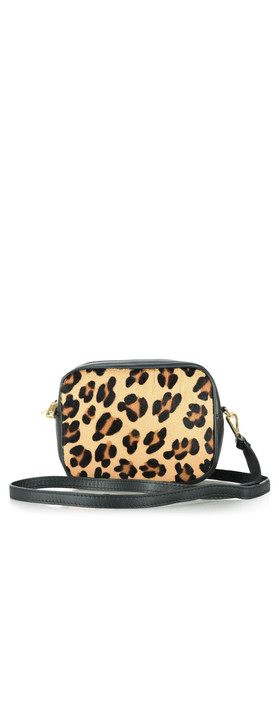 Gemini Label Bags Pinkie Leather Animal Print Bag Leopard