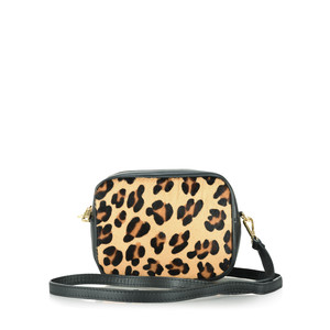 Gemini Label  Pinkie Leather Animal Print Bag