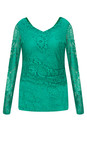 Smashed Lemon Green Fitted Lace Top