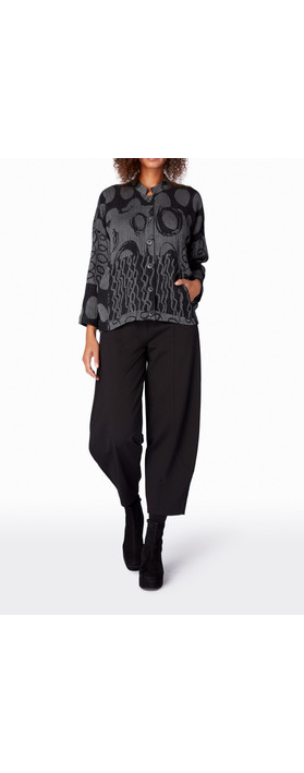 Sahara Abstract Jacquard Jacket Charcoal/Black