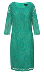 Smashed Lemon Green Lace Fitted Dress