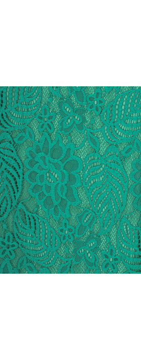 Smashed Lemon Lace Fitted Dress Green