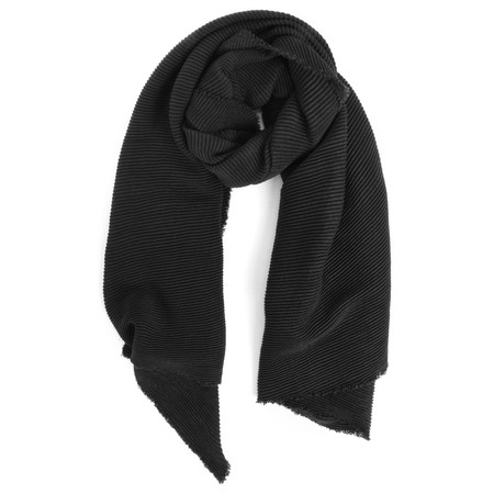 V.Fraas Ribbed Wrap Scarf - Grey