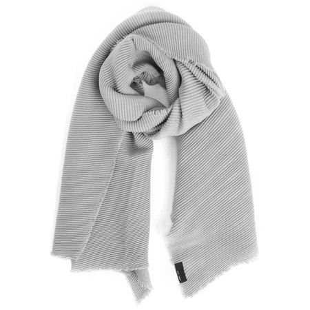 V.Fraas Ribbed Wrap Scarf - Blue