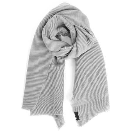 V.Fraas Ribbed Wrap Scarf - Grey