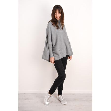 Fenella  Linzy Roll Neck Oversized Knit Jumper - Grey
