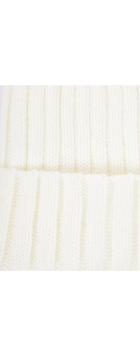 Bitz of Glitz Anna Ribbed Beanie Hat White
