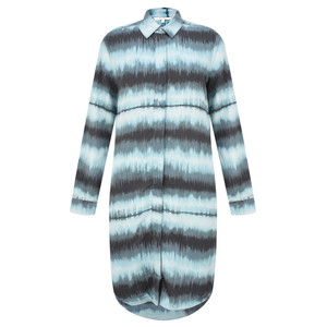 Sandwich Clothing Tie Dye Stripe Shirt Dress