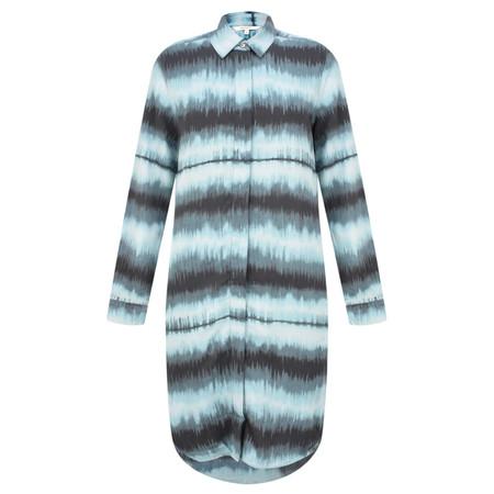 Sandwich Clothing Tie Dye Stripe Shirt Dress - Blue