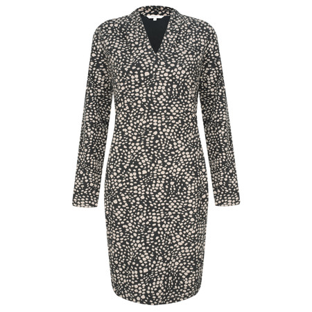 Sandwich Clothing French Terry Cheetah Dress - Black