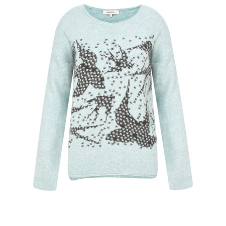 Sandwich Clothing Swallow Print Jumper - Blue