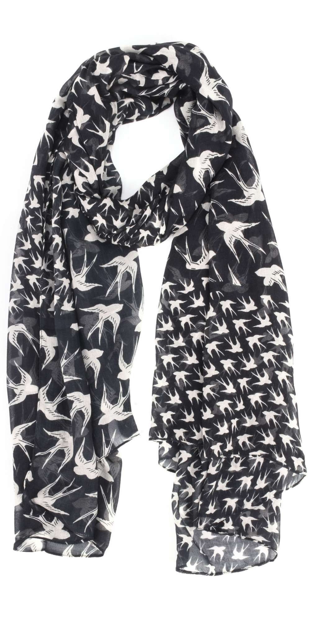 Woven Swallow Print Scarf main image