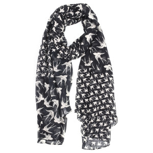 Sandwich Clothing Woven Swallow Print Scarf